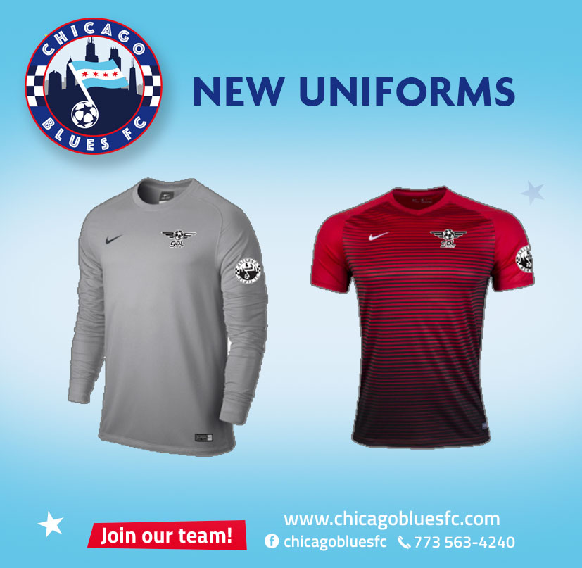 Chicago Blues FC uniforms
